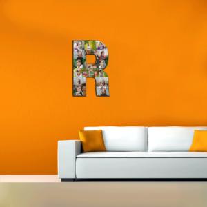 44x30 wall alphabet photo collage,photo collage,alphabet photo frames online,alphabet gifts,alphabet photo frame