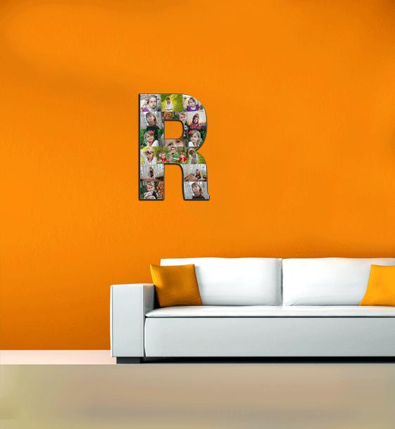 44x30 wall Alphabet Photo Collage Alphabet Photo Collage