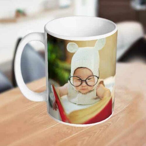 white mug with onepic Photo print on mug - photo mug online photo print on mug
