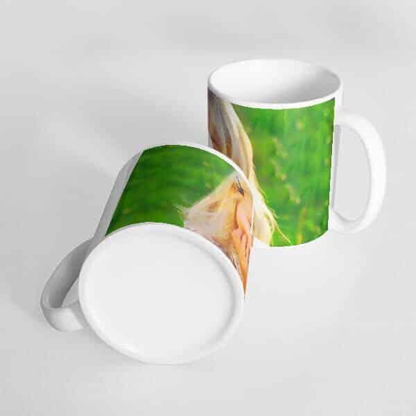 white1 mug with one mage Photo print on mug - photo mug online photo print on mug