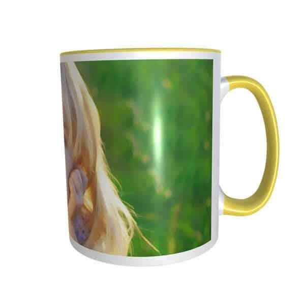 yellow mug with onepic Photo print on mug - photo mug online photo print on mug