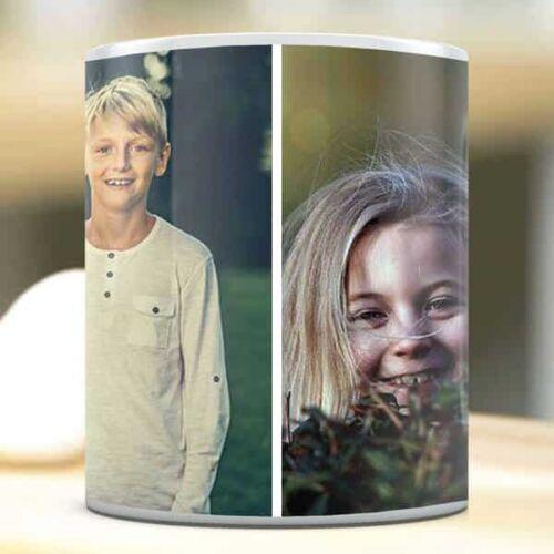 2 pics with print Photo Mug Collage 2 Photo Mug Collage 2