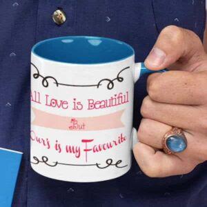 All love is beautiful 3 coffee mug with print,mug with print,photo mug