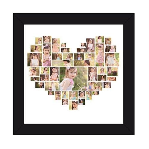 HSPCF 2 2 Heart Shaped Photo Collage Frame - 47 Photos