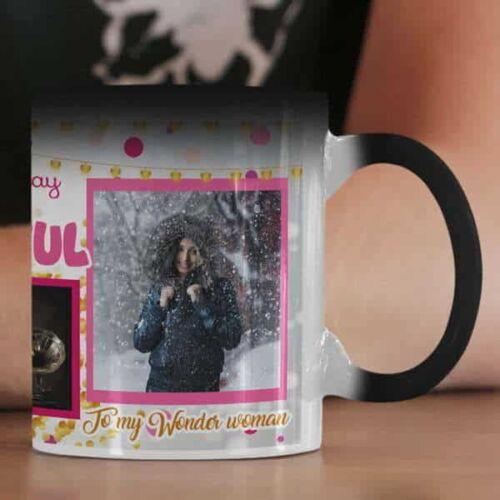 Happy Birthday Beautiful 2 Happy Birthday Beautiful - Coffee Mug  Print With 3 Photos Coffee mug with Print
