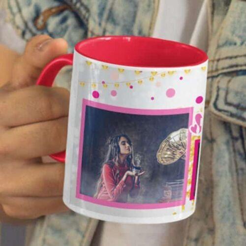Happy Birthday Beautiful 5 Happy Birthday Beautiful - Coffee Mug  Print With 3 Photos Coffee mug with Print
