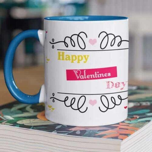 Happy Valentines Day Hugging Monkeys 5 Coffee Mug with Print - Happy Valentine's day - Red mug Coffee mug with Print