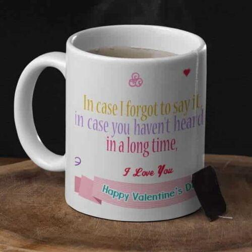 Happy Valentines day I Love you 2 Coffee mug with print - Happy Valentine's day, I Love you - White mug Coffee mug with Print