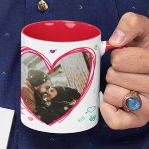Happy valentines day i love you 3 coffee mug with print,mug with print,photo mug