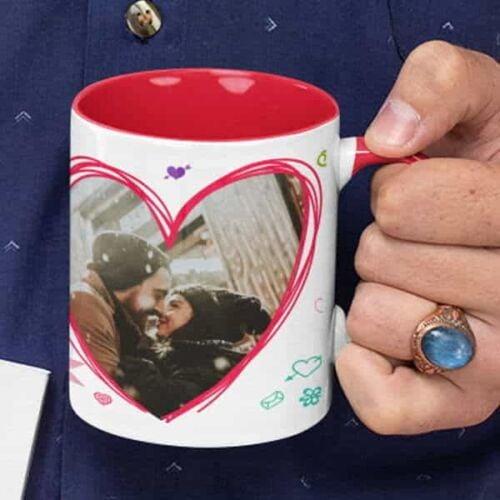 Happy Valentines day I Love you 3 Coffee mug with print - Happy Valentine's day, I Love you - White mug Coffee mug with Print