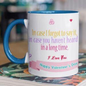 Happy valentines day i love you 4 coffee mug with print,mug with print,photo mug
