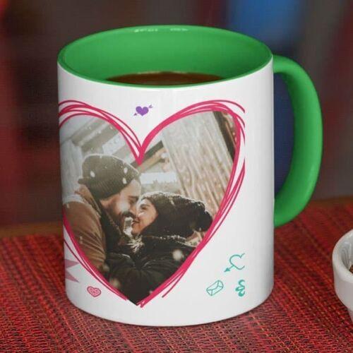 Happy Valentines day I Love you 5 Coffee mug with print - Happy Valentine's day, I Love you - White mug Coffee mug with Print