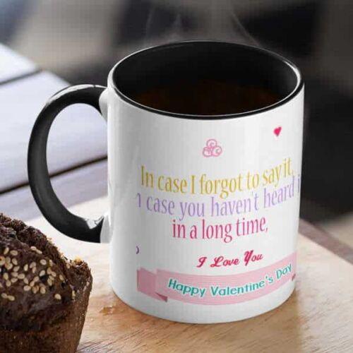 Happy Valentines day I Love you 6 Coffee mug with print - Happy Valentine's day, I Love you - White mug Coffee mug with Print