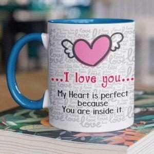 Happy valentines day one photo 5 coffee mug with print,mug with print,photo mug