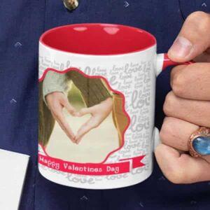 Happy valentines day one photo 6 coffee mug with print,mug with print,photo mug