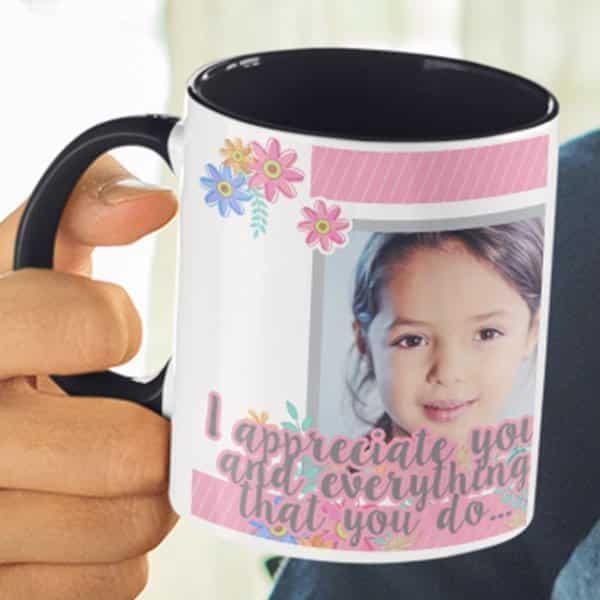 I appreciate you 1 coffee mug with print,mug with print,photo mug