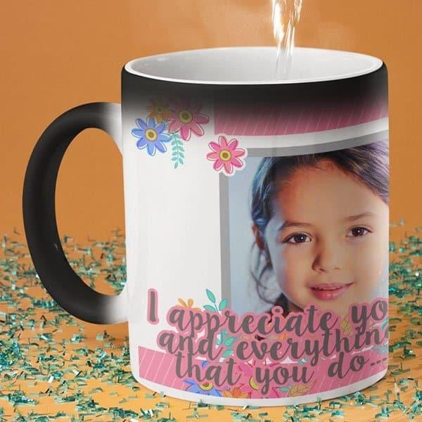 I appreciate you 3 coffee mug with print,mug with print,photo mug