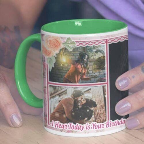 I Hear Today Is Your Birthday 1 I Hear Today Is Your Birthday  - Coffee Mug  Print With 3 Photos Coffee mug with Print