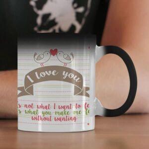 I love you one photo 1 coffee mug with print,mug with print,photo mug