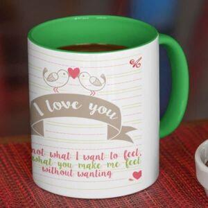 I love you one photo 4 coffee mug with print,mug with print,photo mug