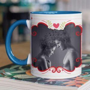 I love you one photo 5 coffee mug with print,mug with print,photo mug