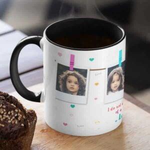 I love you four photos 2 coffee mug with print,mug with print,photo mug