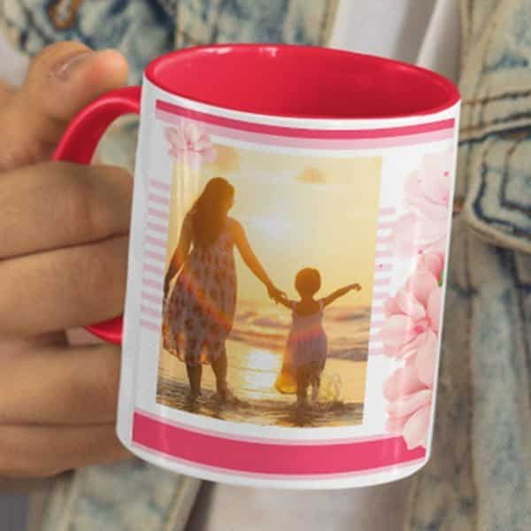 Love You Lots Mother 5 Coffee Mug with Print - Happy Birthday Mother, Love You Lots - Red mug Coffee mug with Print