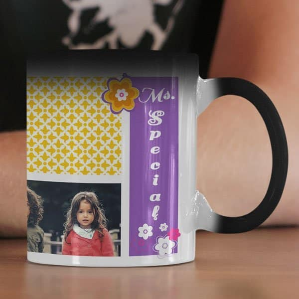 Ms.Special 2 Coffee Mug with Print - Happy Birthday, Ms.Special -  Magic mug Coffee mug with Print