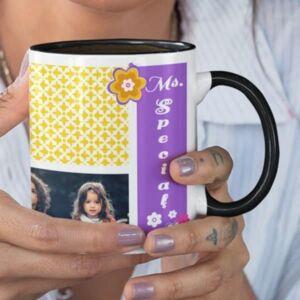 Ms. Special 3 coffee mug with print,mug with print,photo mug