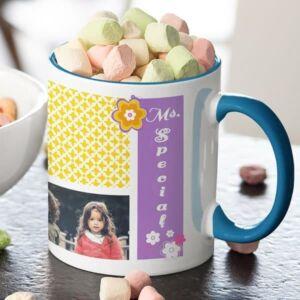 Ms. Special 5 coffee mug with print,mug with print,photo mug