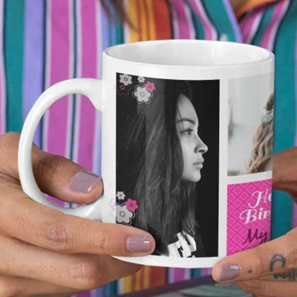 Ms.Special 6 Coffee Mug with Print - Happy Birthday, Ms.Special -  Magic mug Coffee mug with Print