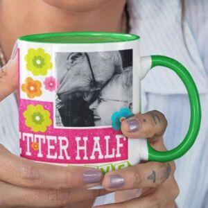To my better half 3 coffee mug with print,mug with print,photo mug