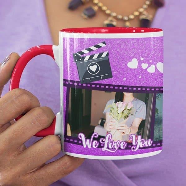 WeLove You Mom 1 Coffee Mug with Print - Happy Birthday Mom, We Love You -  Magic mug Coffee mug with Print