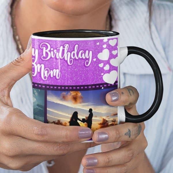 WeLove You Mom 3 Coffee Mug with Print - Happy Birthday Mom, We Love You -  Magic mug Coffee mug with Print