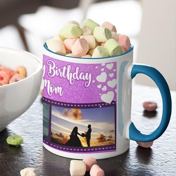 WeLove You Mom 5 Coffee Mug with Print - Happy Birthday Mom, We Love You -  Magic mug Coffee mug with Print