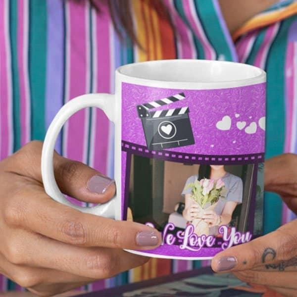 WeLove You Mom 6 Coffee Mug with Print - Happy Birthday Mom, We Love You -  Magic mug Coffee mug with Print