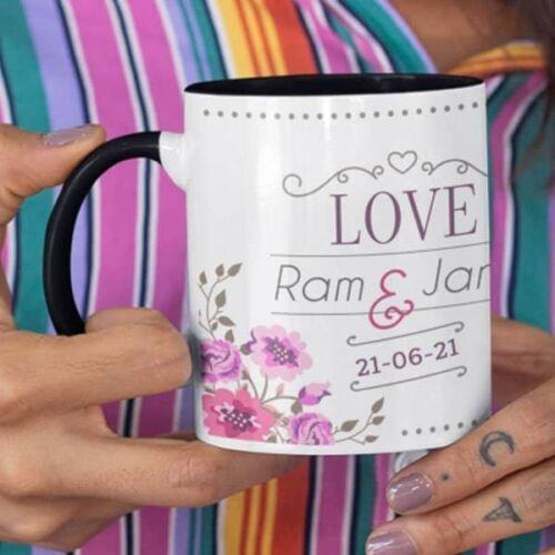 Wedding Love 4 Wedding Anniversary - Coffee Mug With Print - Love Coffee mug with Print