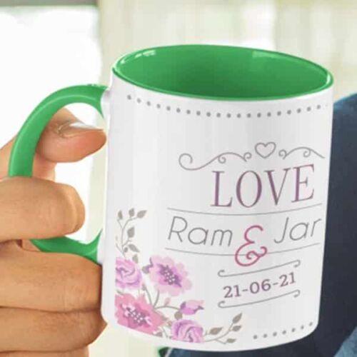 Wedding Love 5 Wedding Anniversary - Coffee Mug With Print - Love Coffee mug with Print