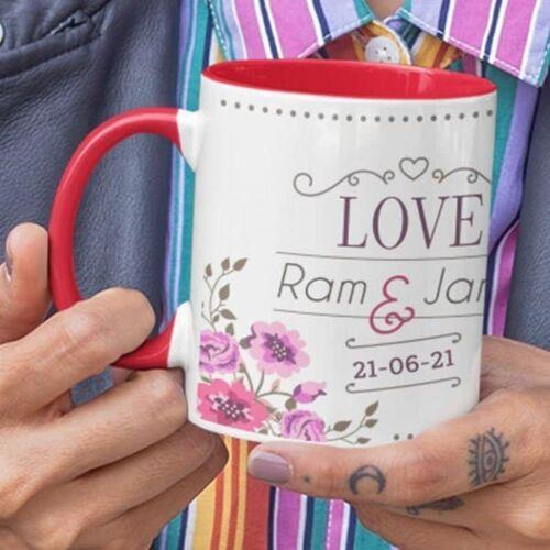 Wedding Love 6 Wedding Anniversary - Coffee Mug With Print - Love Coffee mug with Print