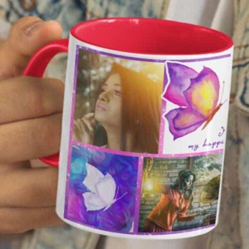 You Are My Happiness 5 Happy Birthday - You Are My Happiness - Coffee Mug Print With 3 Photos Coffee mug with Print
