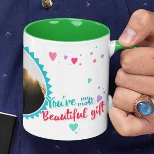 You aremost beautiful gift 3 coffee mug with print,mug with print,photo mug