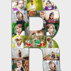 Alphabet photo collage