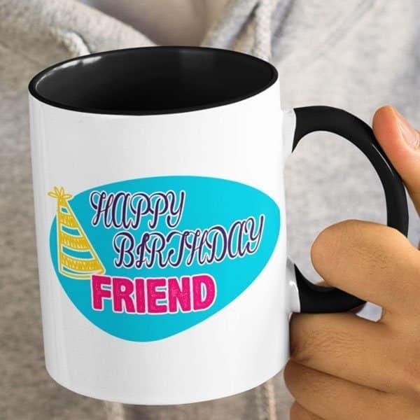 Birthday-grow up old together black mug