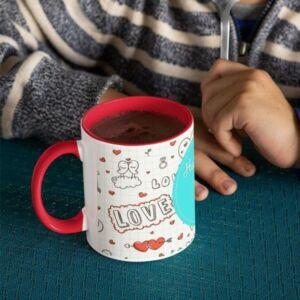 Coffee mug with print love 1 red coffee mug with print,mug with print,photo mug