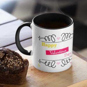 Happy valentines day hugging monkeys 1 coffee mug with print,mug with print,photo mug
