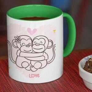Happy valentines day hugging monkeys 4 coffee mug with print,mug with print,photo mug