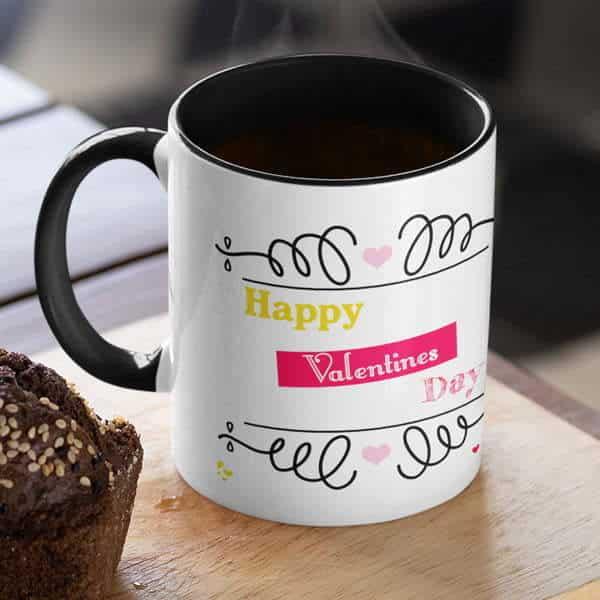 Happy valentines day hugging monkeys 6 coffee mug with print,mug with print,photo mug