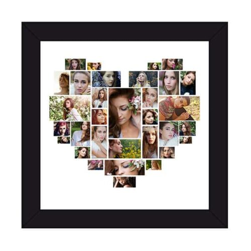 hspcf 2 5 1 Heart Shaped Photo Collage Frame - 32 Photos