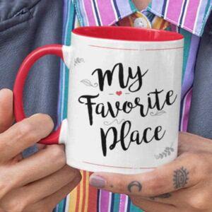 My favourite place 5 coffee mug with print,mug with print,photo mug