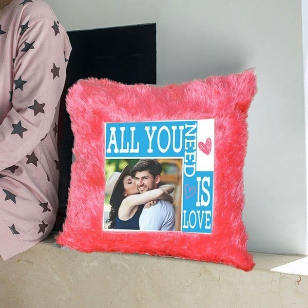 p4 Customized pillows - All You Need Is Love - Pink Customized Pillow